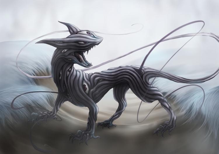illustration, monster - nutjt | ello
