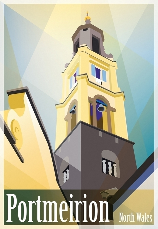 Portmeirion - illustration, digitalart - ellenparzer | ello