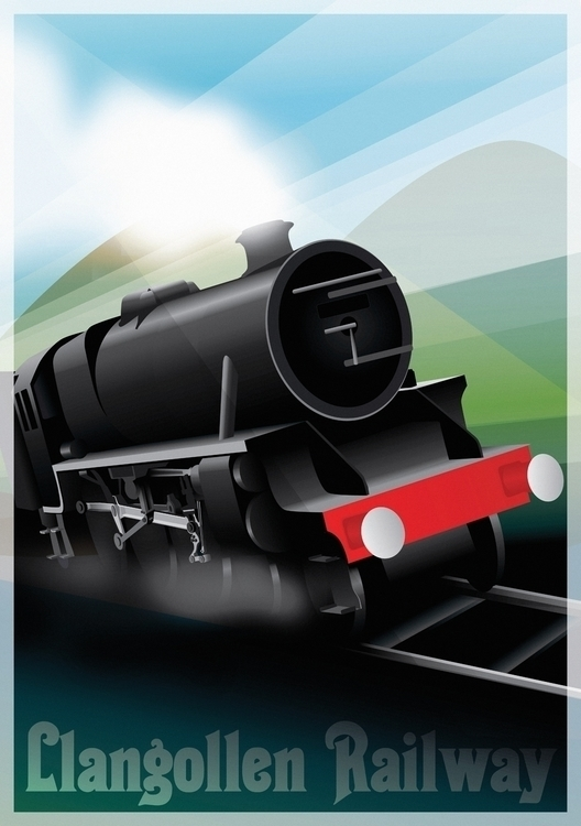 Llangollen Railway - illustration - ellenparzer | ello