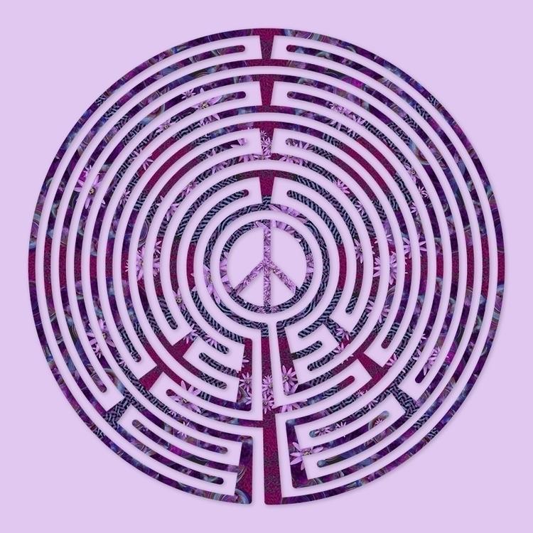 Peace - Purple Passion labyrint - nancyaurandhumpf   ello