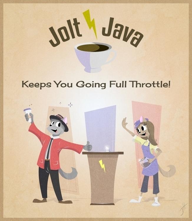 Jolt Java Ad - illustration, graphicdesign - fxscreamer   ello
