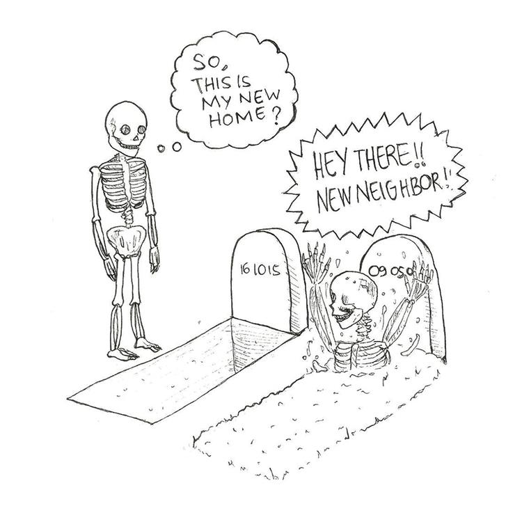 15 Grave - illustration, drawlloween2016 - hotshots2000 | ello