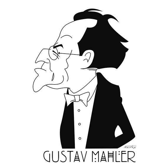Gustav Mahler - mahler, illustration - mastra | ello