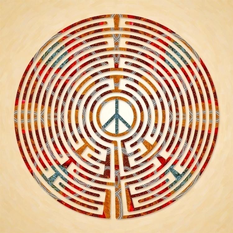 Peace - Desert Sand labyrinth d - nancyaurandhumpf | ello