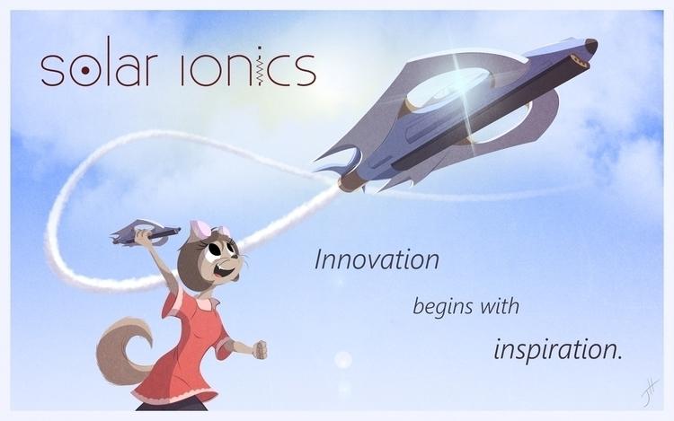 Solar Ionics Ad - illustration, characterdesign - fxscreamer | ello