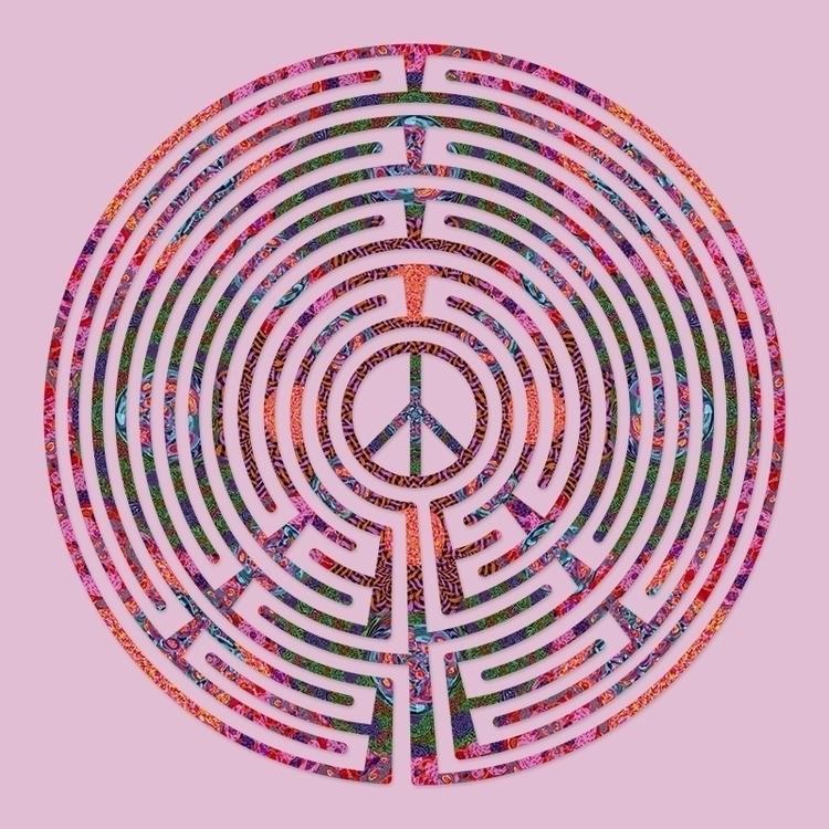 Peace - Rosebud labyrinth desig - nancyaurandhumpf | ello
