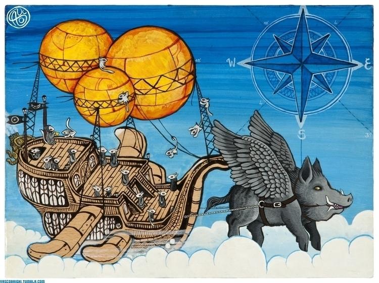 Yamayoshi Flying Ship - vascobz | ello