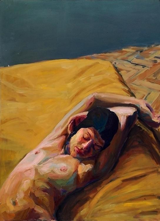 Carpe diem, oil lino, 90 120 cm - suzanadzelatovic | ello