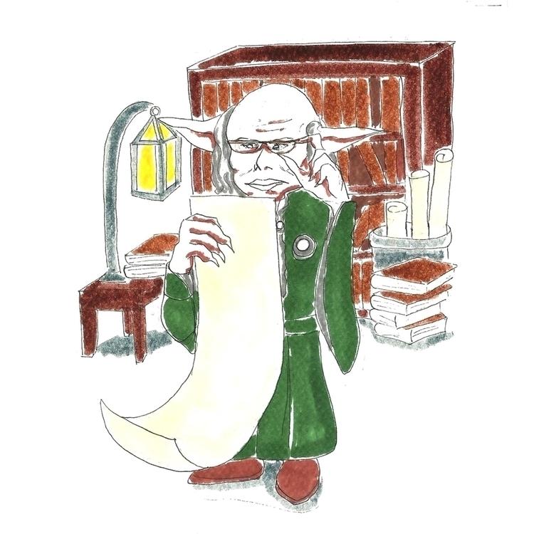 26 Goblin - illustration, drawlloween2016 - hotshots2000 | ello