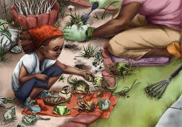 Garden Story time: amphibian cr - katpowell | ello