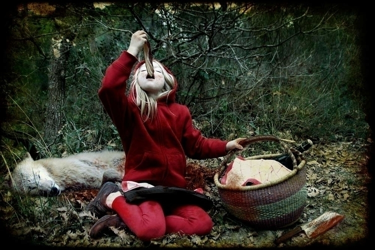 fairytales, littlered, wolf, picnic - luisacatucci | ello