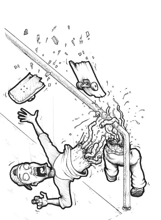 Split-Body Grind - illustration - duxodurazzo | ello