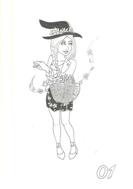 1. Seasonal Witch Spring - illustration - hotshots2000 | ello