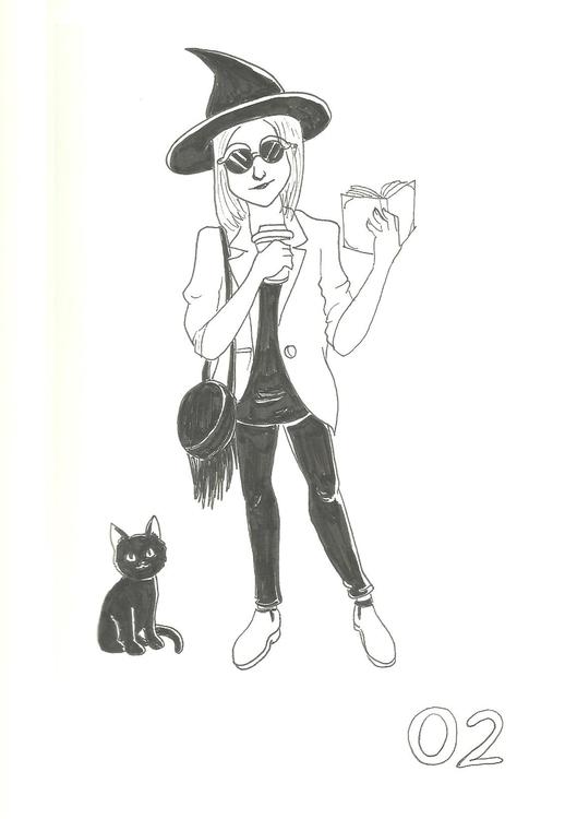 2. Urban Witch - illustration, inktober2016 - hotshots2000 | ello