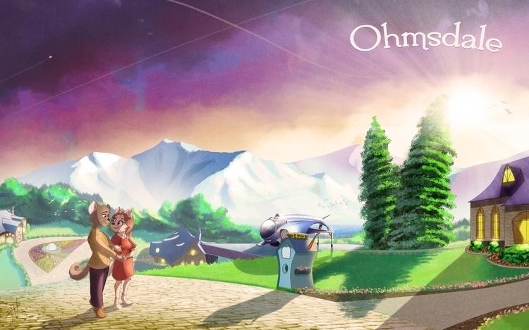 Ohmsdale Suburbs - illustration - fxscreamer | ello