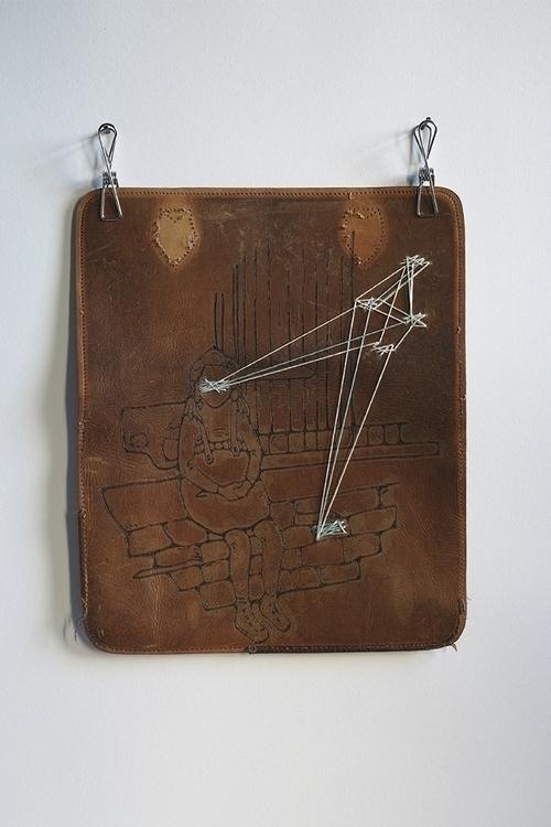 leather karo knitter - illustration - karoknitter | ello