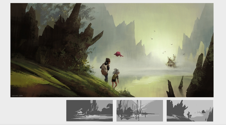 concept painting recorded video - zacretz | ello
