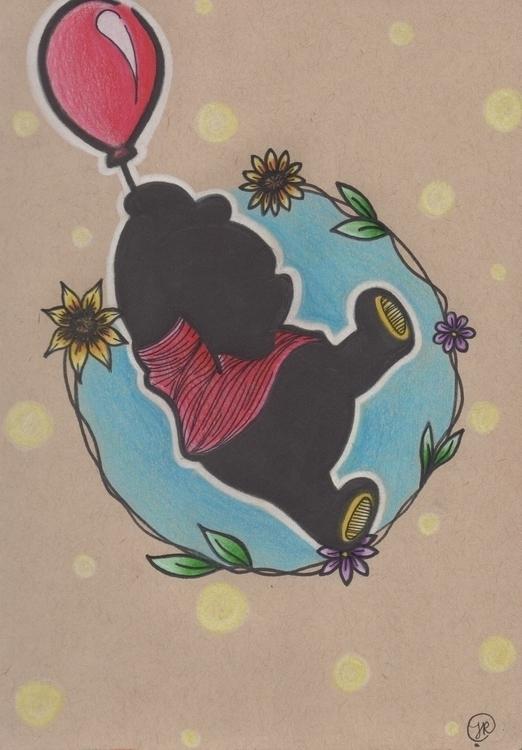 Pooh Bear Silhouette - fanart, disney - jessicaredmond | ello