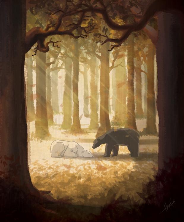 ciervos celestiales 1 - illustration - heycris | ello