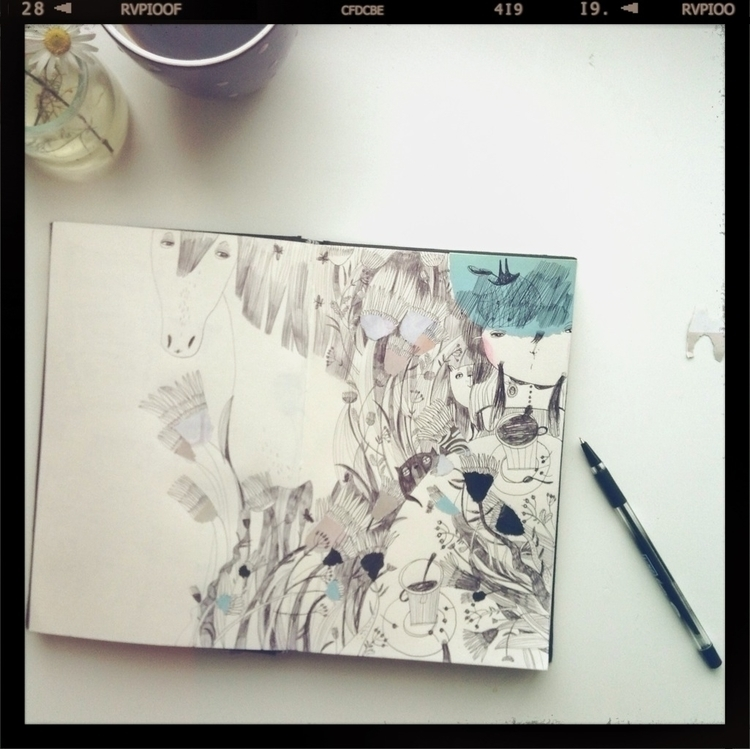 illustration, drawing, sketch - teawithrosejam | ello
