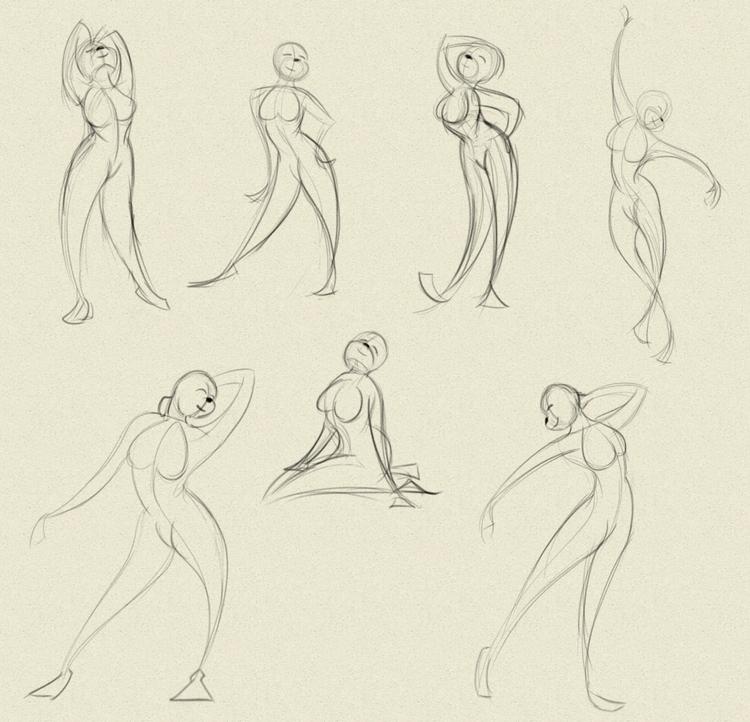 Gesture Studies - 1, study, gesturedrawing - fxscreamer | ello