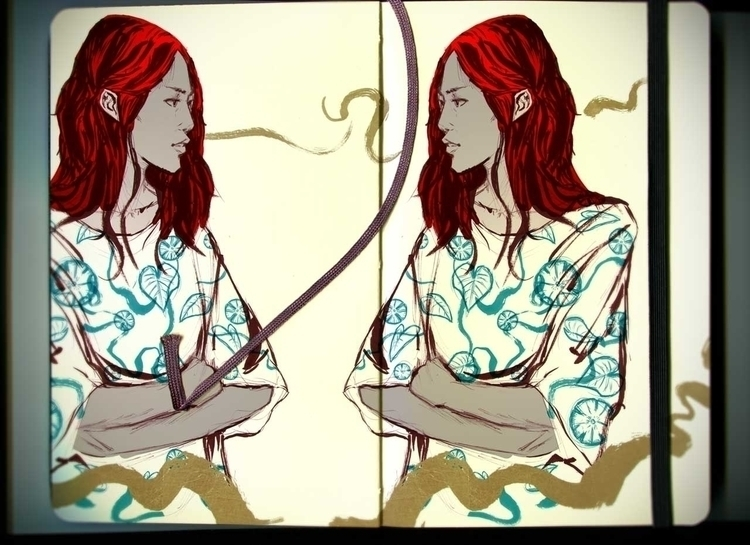 Daily sketches - illustration, drawing - kcmatsumoto | ello