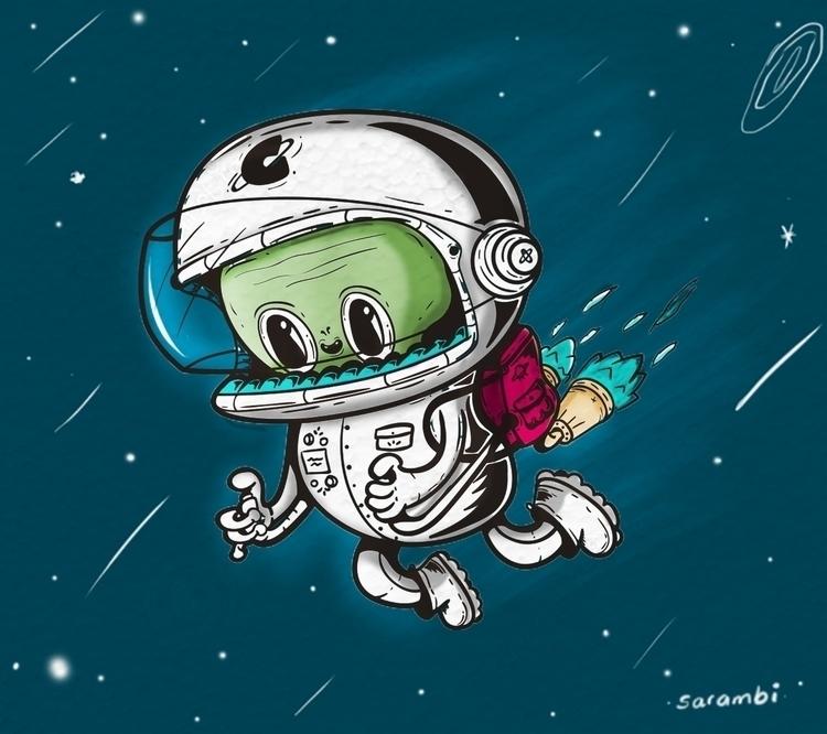 explore universe - illustration - sarambi-1431 | ello