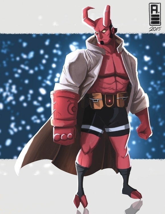 hellboy - darkhorsecomics, illustration - ihuaj | ello