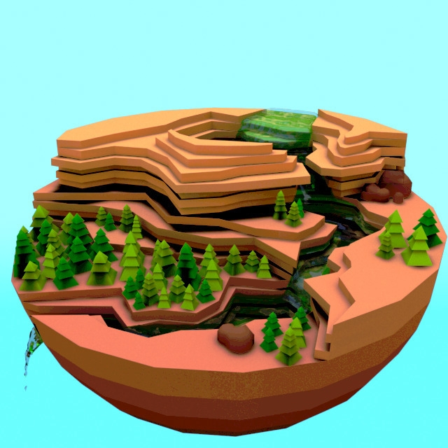 illustration, 3d, diorama, animation - emarchena | ello