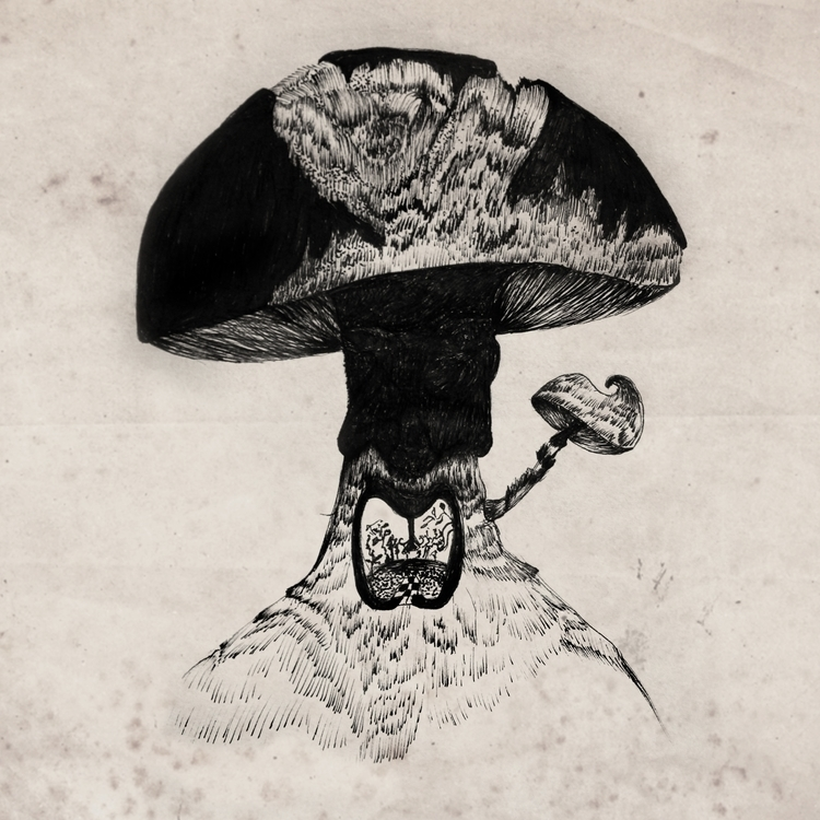 closer - sketch, sketchbook, mushrooms - ibtisam | ello