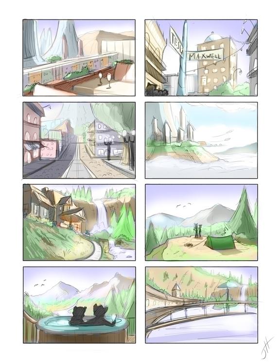Thumbnails - 2, landscape, conceptart - fxscreamer | ello