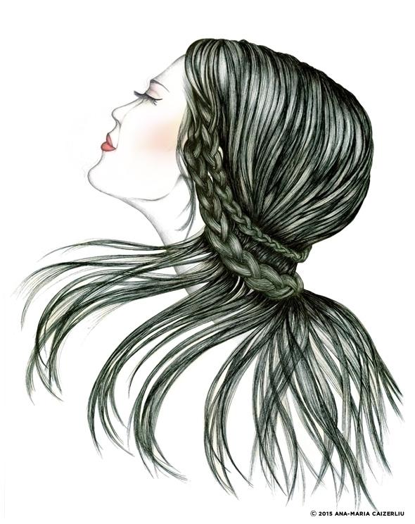 fashionillustration, hair, hairstyle - anacaizerliu | ello