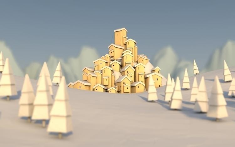 City - city, illustration, 3d, 3dart - dubcoonco | ello