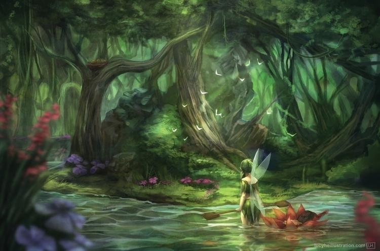 Verdant Fairy flower canoe stop - lucyhe | ello