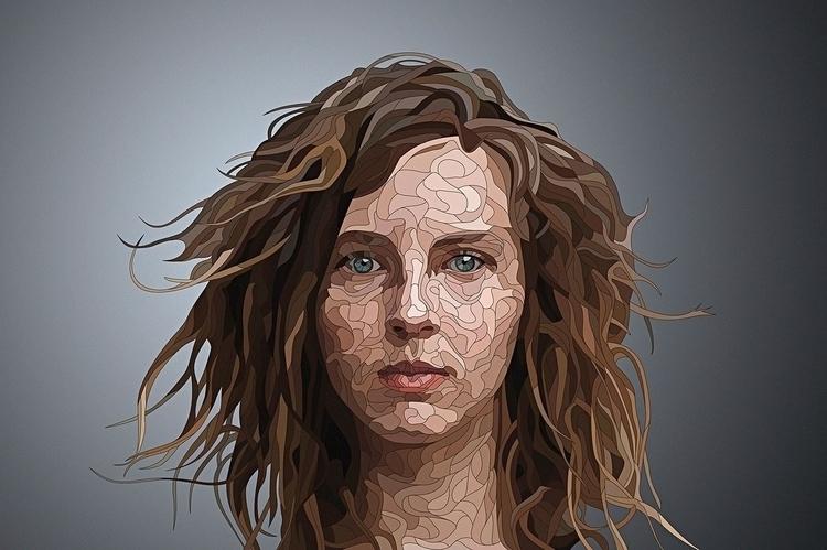 Muse - illustration, vectorart, portrait - nickolayapraksin | ello