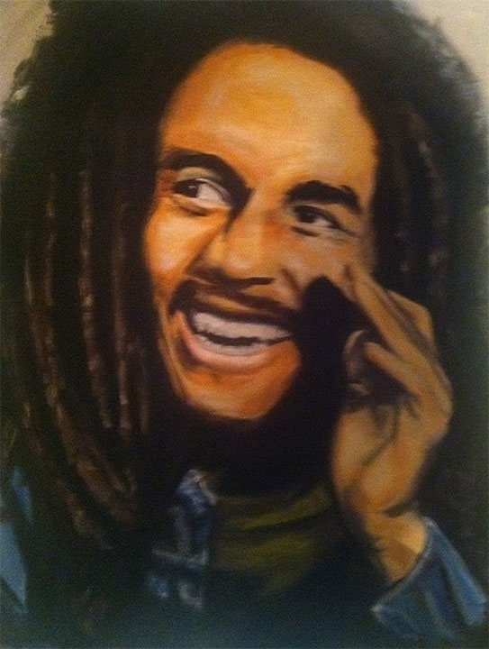 Bob Marley, 16x20 oil canvas - smhosier | ello