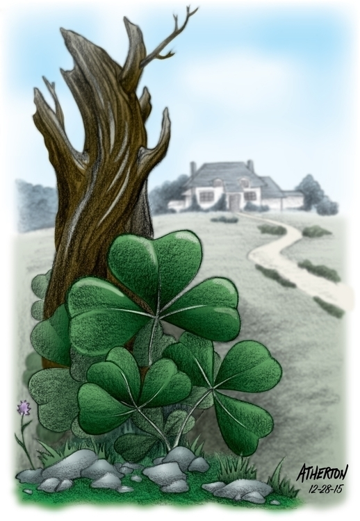 Rural Irish countryside - illustration - jimatherton | ello
