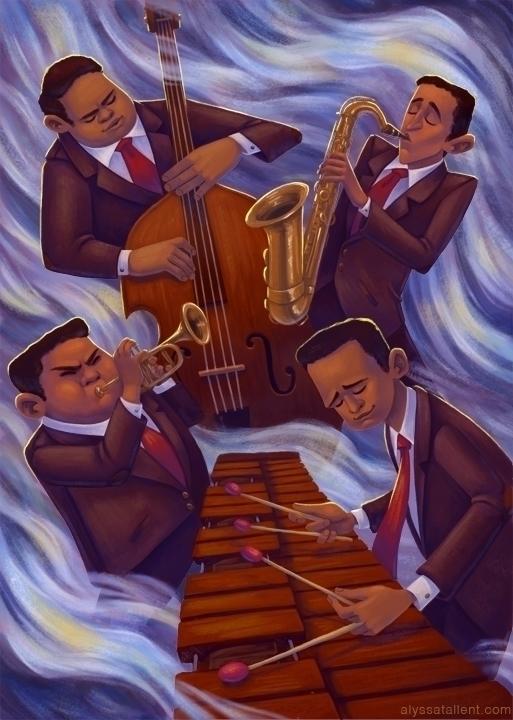 Jazz - jazz, music, musicians, marimba - alyssatallent | ello