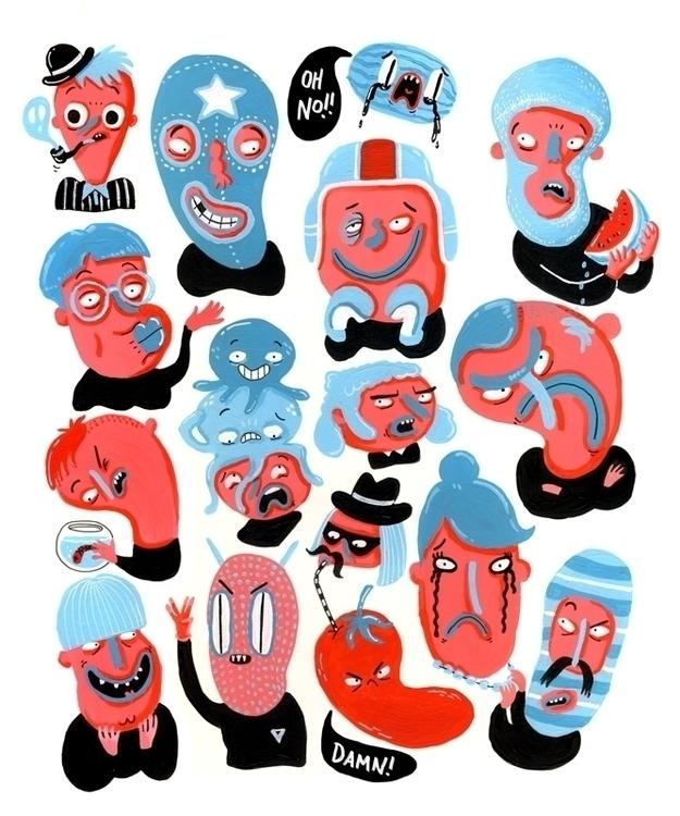 illustration, drawing, characterdesign - sarahmatuszewski | ello