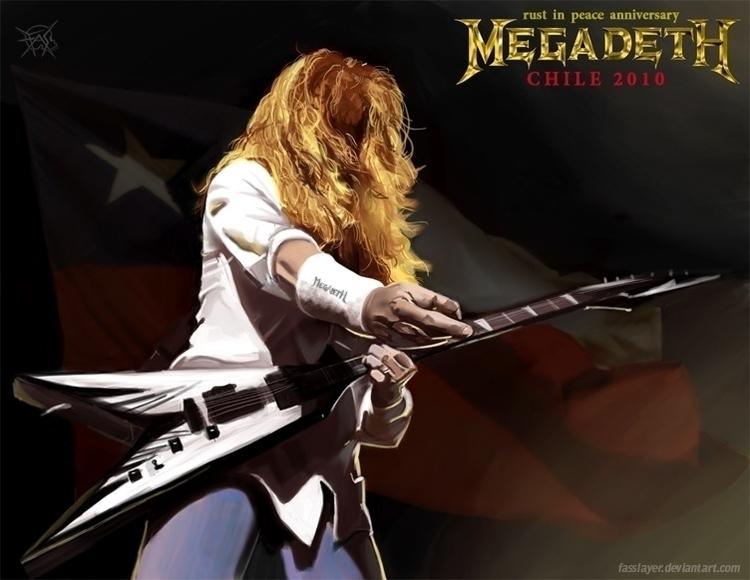 Dave mustaine Megadeth - illustration - fasslayer | ello