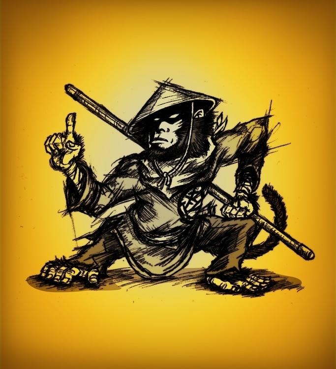 Monkey Warrior - characterdesign - theartofsichiu   ello