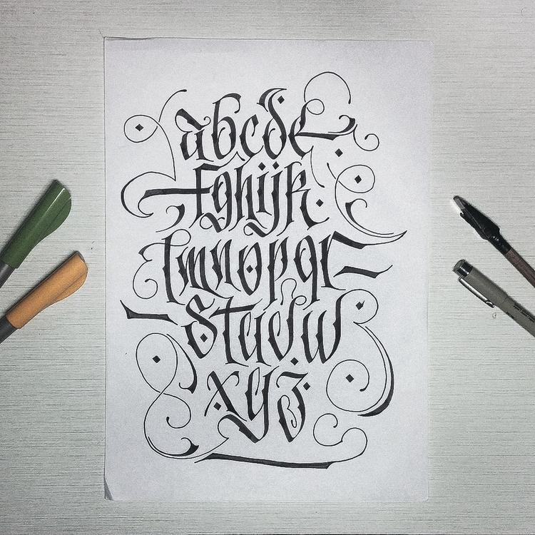 alphabet - calligraphy, lettering - leviasen-5051 | ello