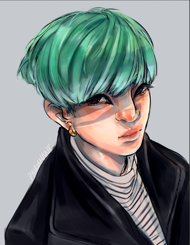 Yoongi - bangtan, bts, fanart, illustration - imaniking   ello