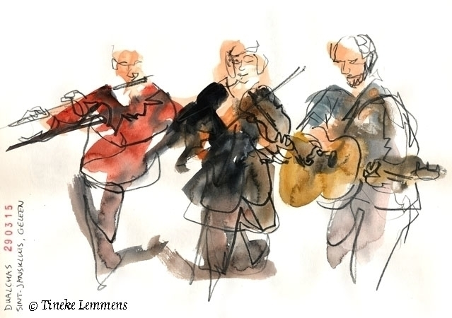 Dualchas - musicians, flute, violin - tineke-1461 | ello