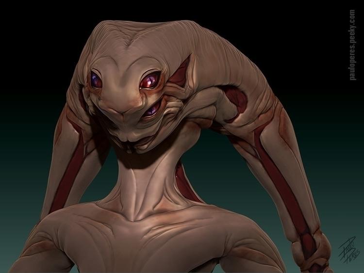 Female Alien - Detail 1 - characterdesign - pauloperes-1547 | ello