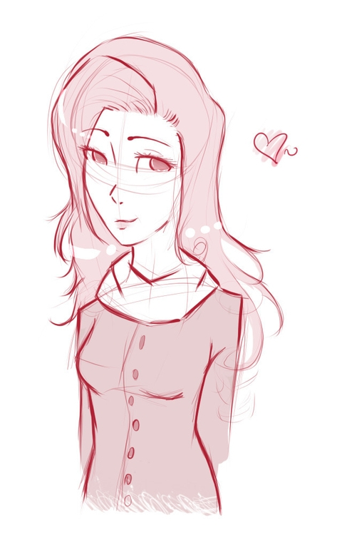pink, sketch, sketches, painttoolsai - vitoriamagalhaesp | ello