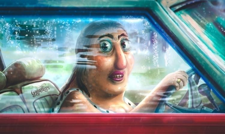 drive car secretly stare - sudd - gagatka | ello