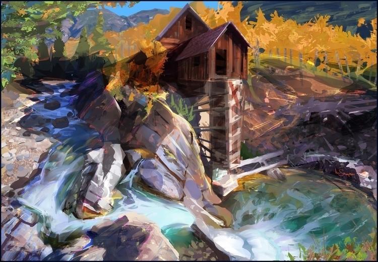 landscape, study, river - marcsampson   ello