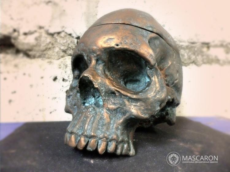 Skull - skull, skulls, sculpture - mascaron | ello
