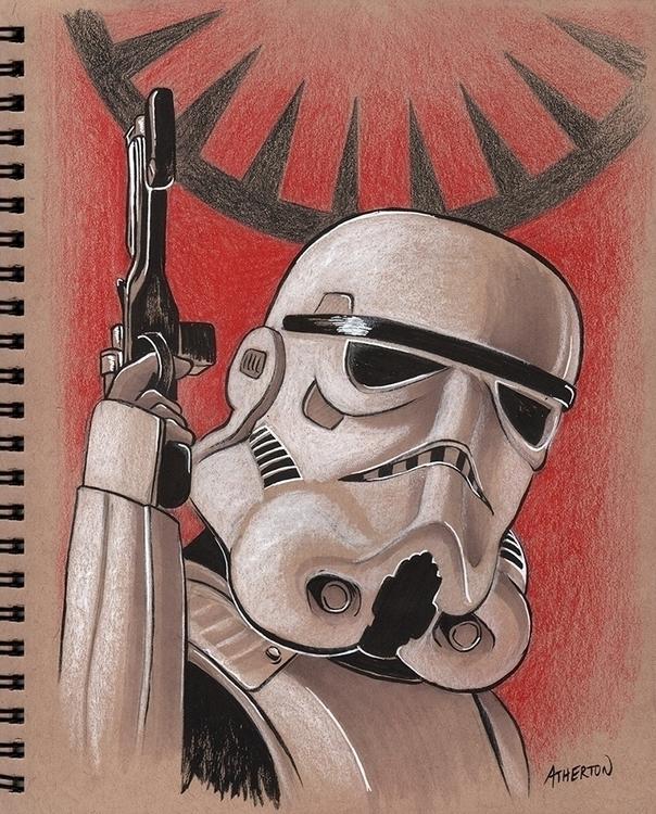 Stormtrooper toned tan paper - illustration - jimatherton   ello